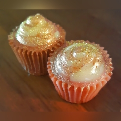Sweet Pumpkin - Allow our adorable mini Sweet Pumpkin cupcake reassure you that this isn't another pumpkin spice thing with its sweet pumpkin smell and smoldering woody notes, incense and spice. This too freaking cute cupcake is topped with biodegradable gold glitter and drizzled with bronze mica. Available in our store for $1 a piece.