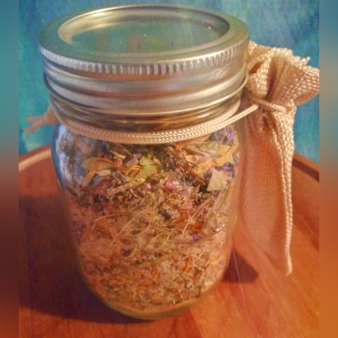 Soothing Eucalyptus - When you need more than just one satchel of our Soothing Eucalyptus soak, look no further than our Mason Jar soak. Our Soothing Eucalyptus herbal soak is a combination of with Himalayan salt, Grey French Salt, Epson Salt and Sea Salt with Eucalyptus, Vervain, Echinacea, Heather Flowers, Elder Berries, Willow, Marigold, Lavender and Corn Flowers. It is lightly scented with Eucalyptus because you can never have too much eucalyptus. Available in our shop for $20.